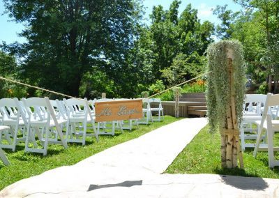 Parkside Deck ceremony setup